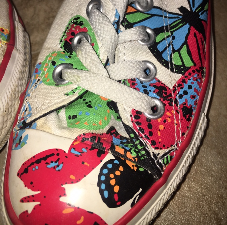 Converse chuck taylor sneakers with butterfly Depop
