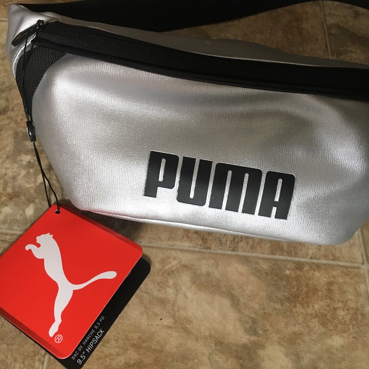 88cb9a720138 Silver and black puma waist pack Fanny pack. Brand new with - Depop