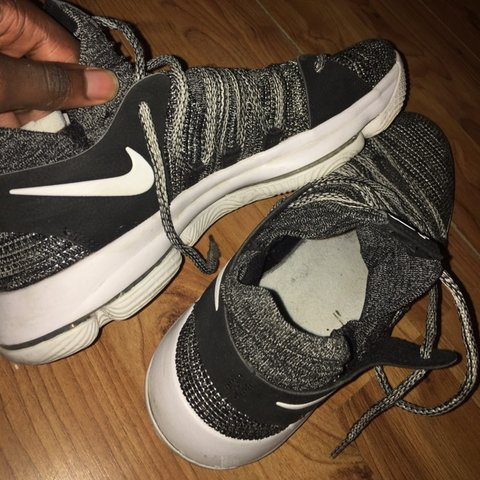 8b36446084985 Hardly Used Oreo (Black White) Nike Kevin Durant 10 Shoes - Depop