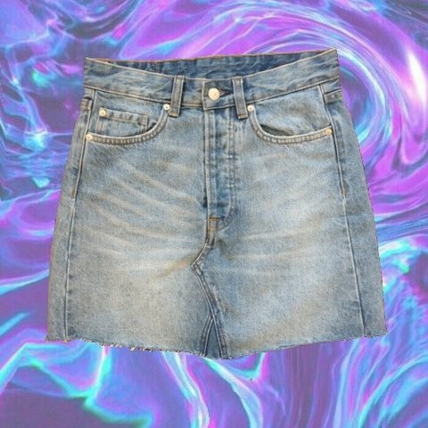 9800574a7e Exceptionally crafted skirt made with sturdy denim. Raw make - Depop
