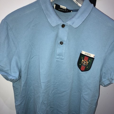 c681687a7cb Authentic blue Gucci polo. Bought from cruise glasgow. Only - Depop
