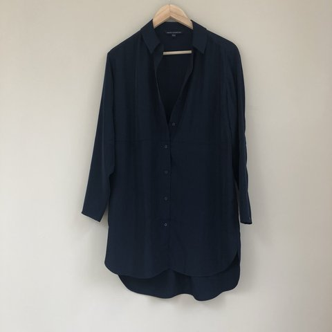bef0681c7d812e @lottalice101. 8 months ago. United Kingdom. French Connection navy blue  shirt dress. In size 6 but would ...