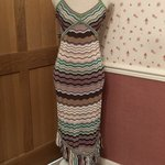 d3a1cc4d23c9 Karen Millen striped halterneck dress.
