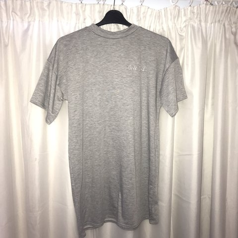 76d8d7f01bc Missguided size 12 (fits more like a 10) grey t-shirt dress - Depop