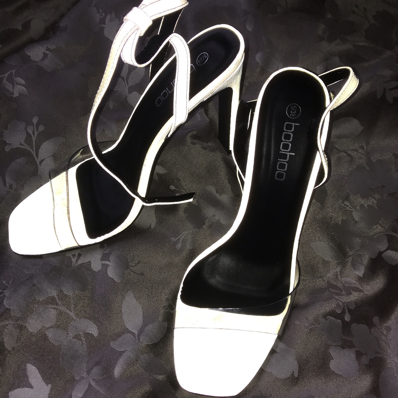 Reflective heels Size 5 BOOHOO SOLD OUT