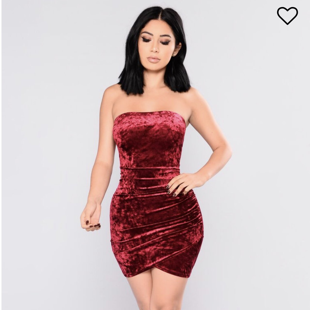 171566a1d27 Fashion Nova Beating Heart Velvet Dress. NWT. RRP is  24.99. - Depop