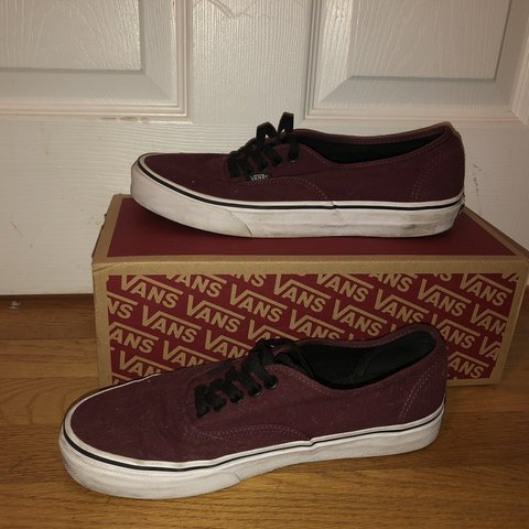 d76020ade967 @annika1355. 21 days ago. Randolph, United States. Maroon low top canvas  vans.