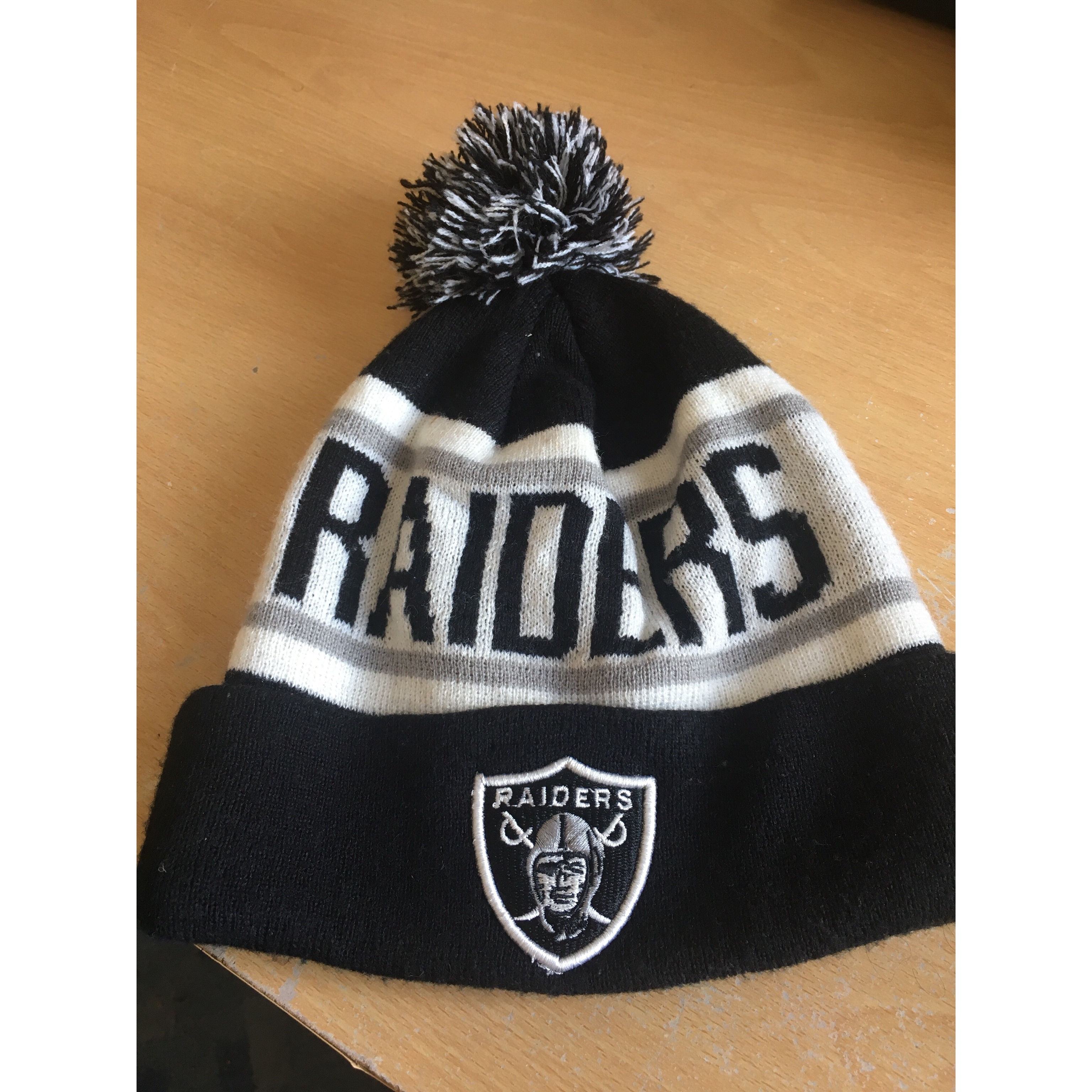 Oakland Raiders Beanie Hat Unofficial New Era Wooly Depop