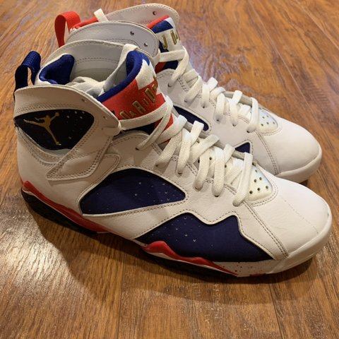 "0037c9dfd23e Michael Jordan Retro 7 ""Tinker Alternate"" Olympic Sz 9.5 is - Depop"