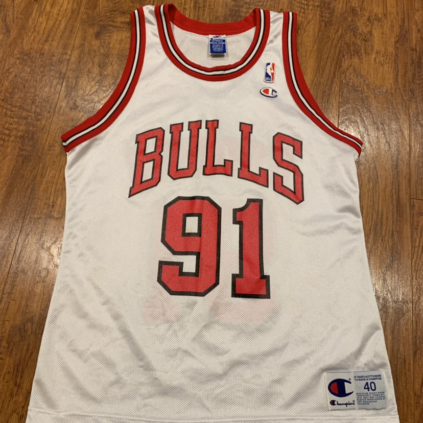 cheap for discount ec1fd b3c4a VTG Champion Jersey Dennis Rodman #91 Chicago Bulls ...