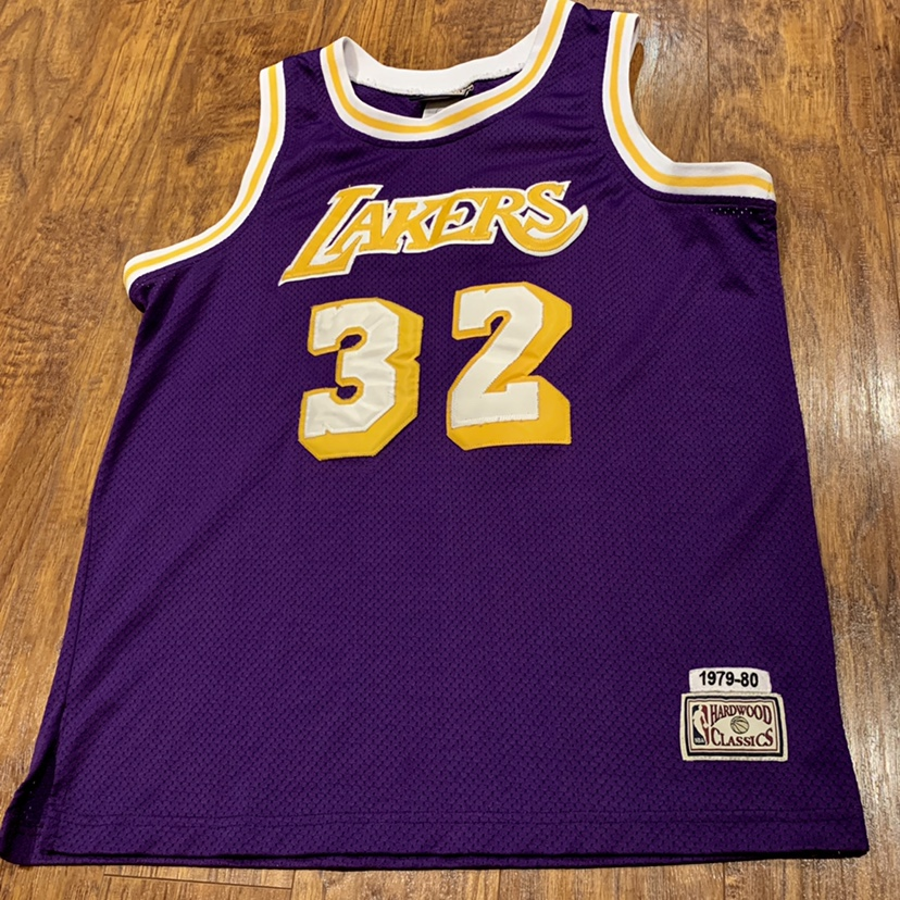 best website 6e1e9 5c99b NBA Hardwood Classics VINTAGE Lakers #32 MAGIC ...
