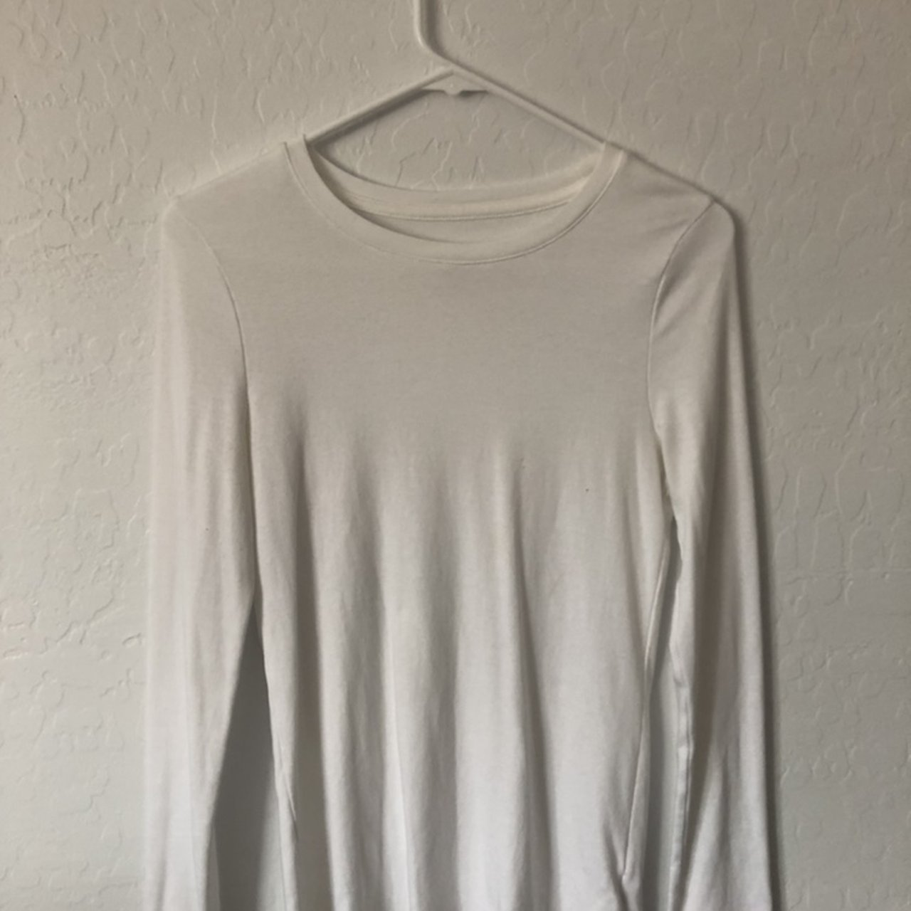 Plain white long sleeve shirt. The softest thing I have ever - Depop c65f4727232