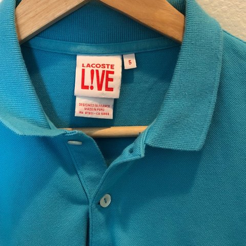 ae2c2b1d Lacoste blue polo shirt size 5, can fit men small and as - Depop