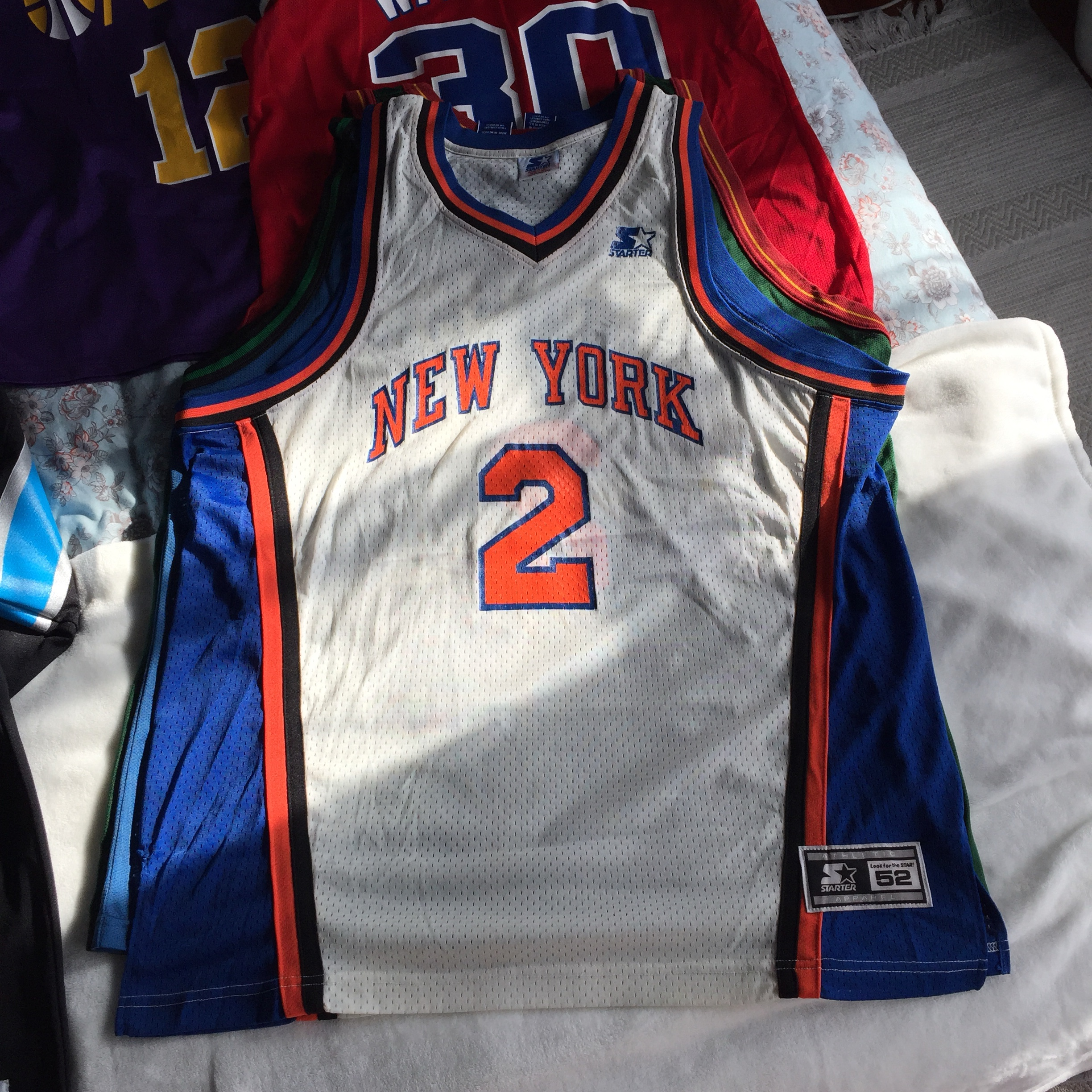 brand new ebfe7 56f5b Vintage Larry Johnson 2 New York Knicks Starter NBA ...