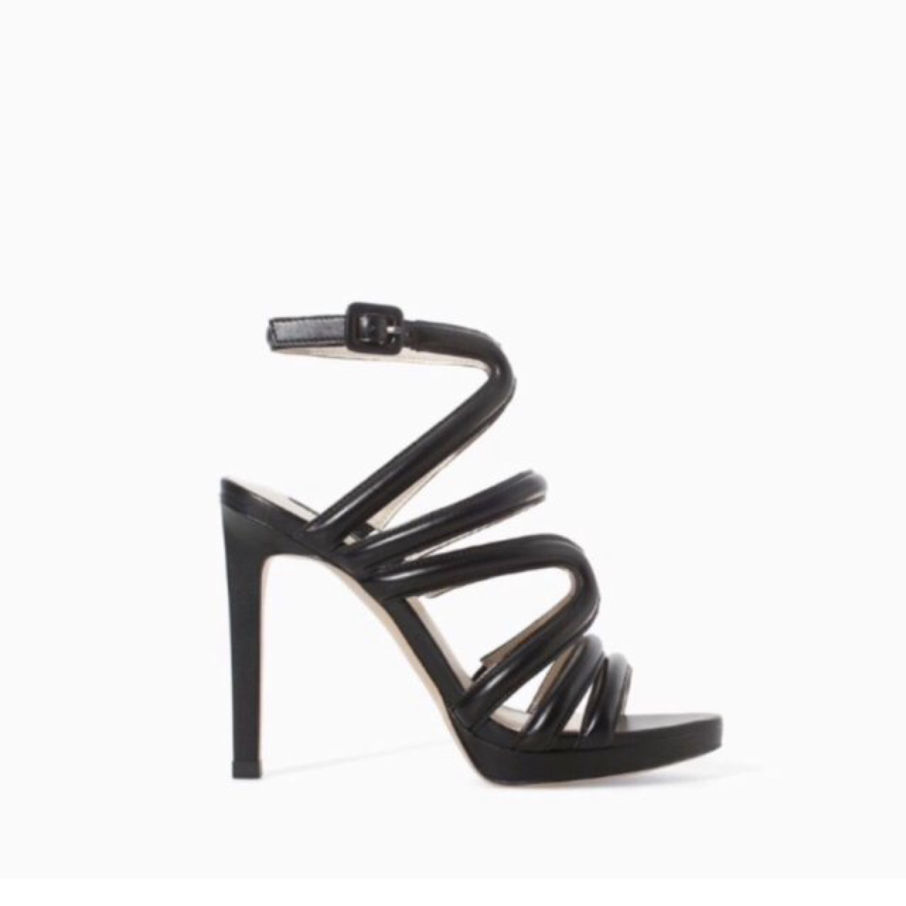 detailing sale retailer many styles Zara black strappy heels. Never worn only tried on... - Depop