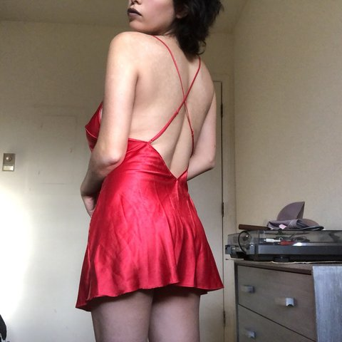Criticising red satin nightie