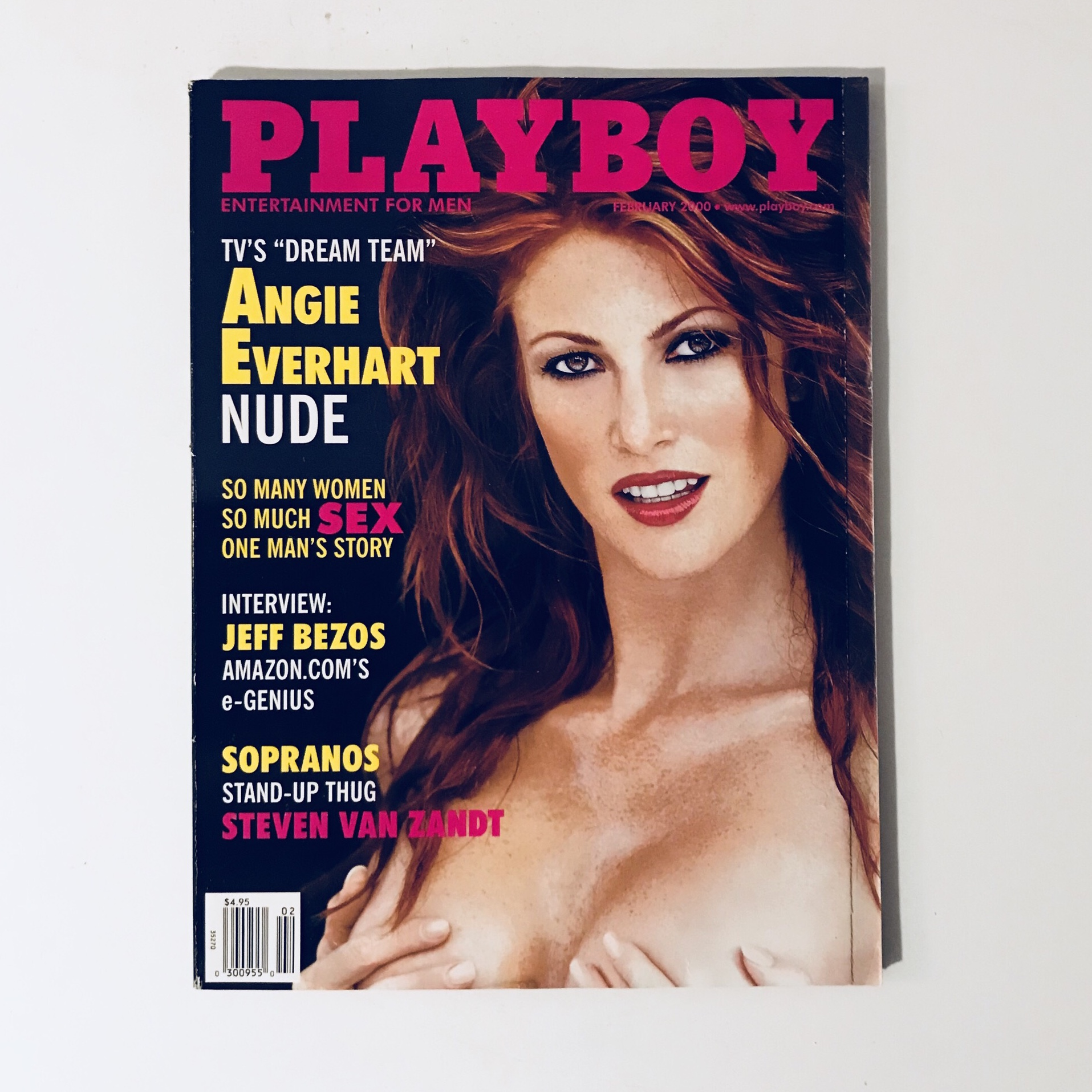 Angie Everhart Playboy free us shipping playboy magazine - february - depop
