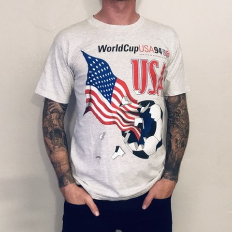 bdc7f1eb8 FREE US SHIPPING ⚽ Vintage World Cup USA 94 Soccer Grey in - Depop
