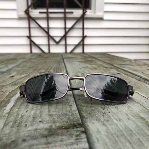 a44f6c467311 these glasses remind me soo much of the matrix!! square, w - Depop