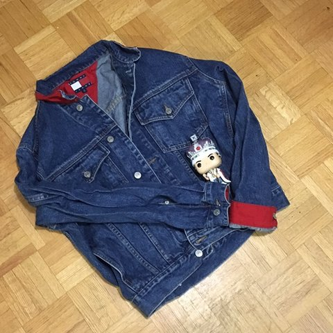 Tommy Jacket With No Hilfiger Denim And Depop Damages Clean Red AArS4q