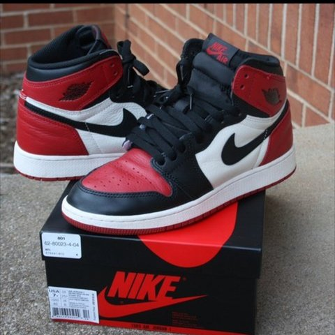 36b3936590bd Air Jordan 1 Bred Toes 💥 US 9.5   UK 8.5 💯 Deadstock To - Depop
