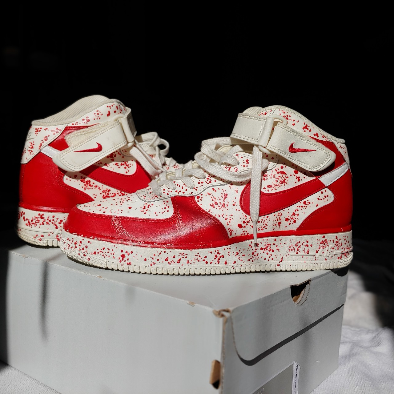 Nike Air Force 1 High Tops Custom Painted Mens 9 Depop