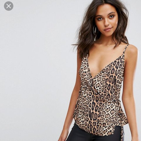 c733d8e3e560 @ellahugill. last year. Leeds, UK. Missguided Wrap Front Leopard Print Cami  Top. Never worn ...