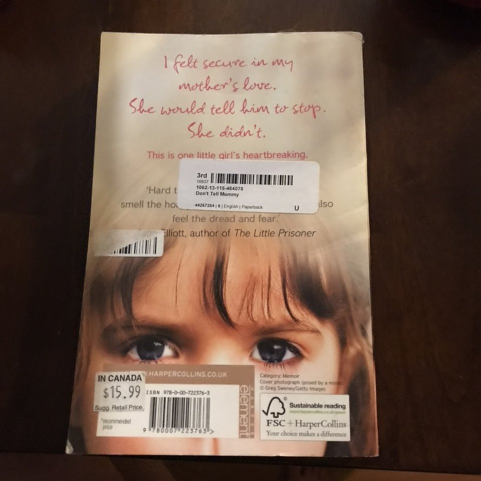 Don T Tell Mommy Book It S A Book About Child Abuse Depop