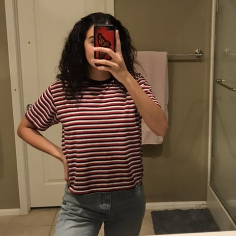 1c056a5ee8 @lorienkonold. 2 days ago. Temecula, United States. BRANDY MELVILLE red,  white, and blue striped tee!