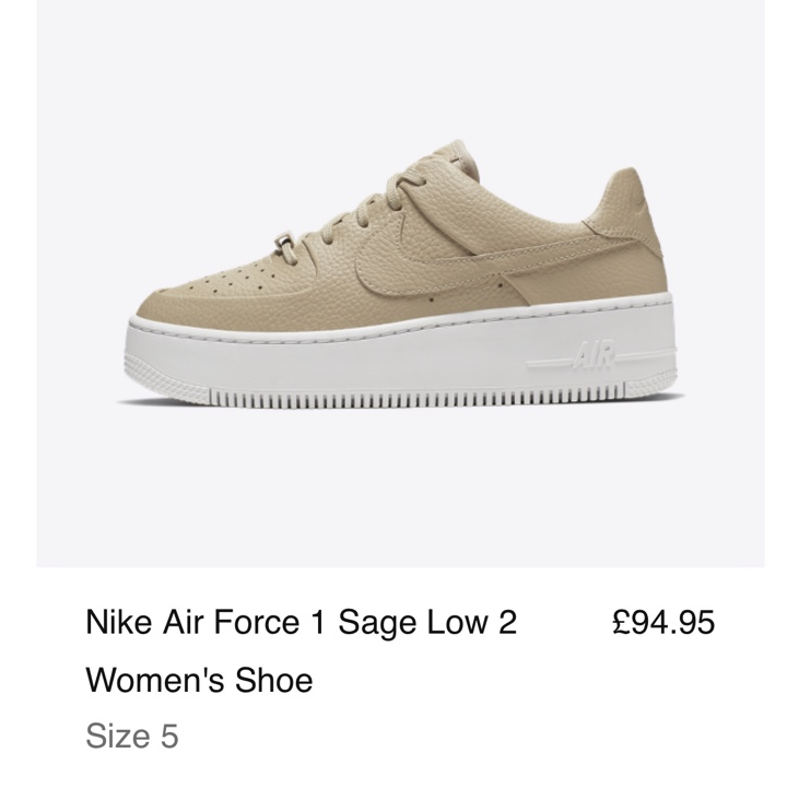 Rare discontinued Nike Air Force 1 AF1