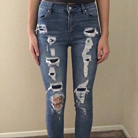 c20c69775691d Ripped jeans from Pacsun Bought these and worn them about I - Depop