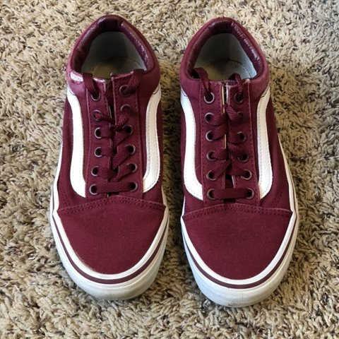 3b72f4ed166746 maroon old skool vans ! condition  worn a couple times
