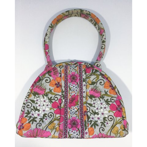 a7c2058f24 brightly colored 70s inspired vera bradley large bowler bag - Depop