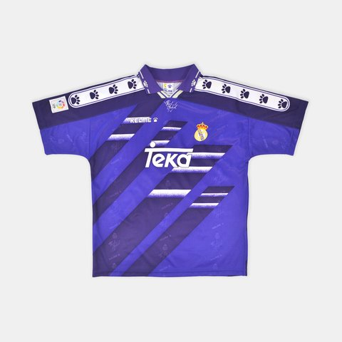 a7abd48a2 1994-96 Kelme Real Madrid Away Shirt Size: Extra Large UK - Depop
