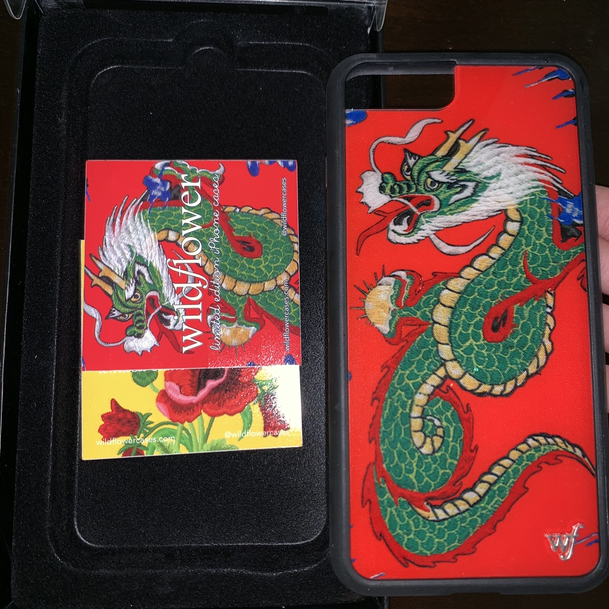 reputable site 7418a 841aa red dragon wildflower phone case for iPhone... - Depop