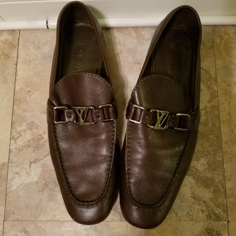 87f81024c0a5 100% AUTHENTIC Louis Vuitton mens loafers!! Minor scuffs on - Depop