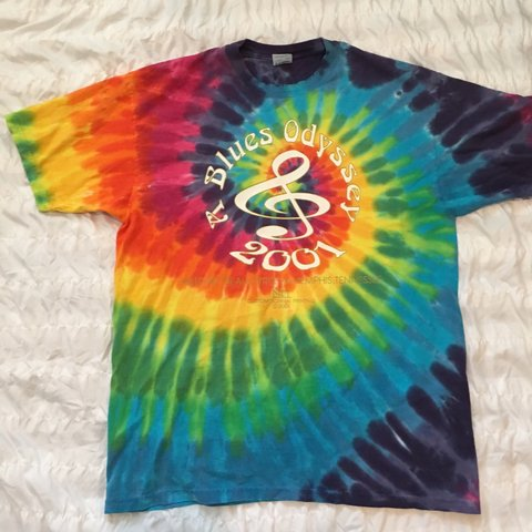 8a742e790457 Cool Tie Dye T-Shirt Bright vivid Colors Size x-lg  Music - Depop