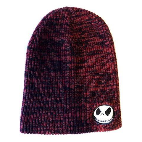 b90853d712445 Jack skellington beanie Red and black long beanie Dm me - Depop