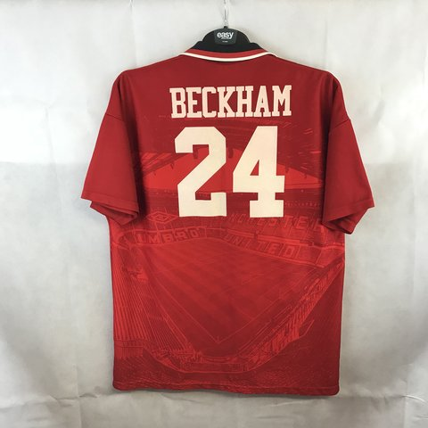 4e587f3c73c Manchester United Beckham 24 Home Football Shirt 1994 96 XXL - Depop