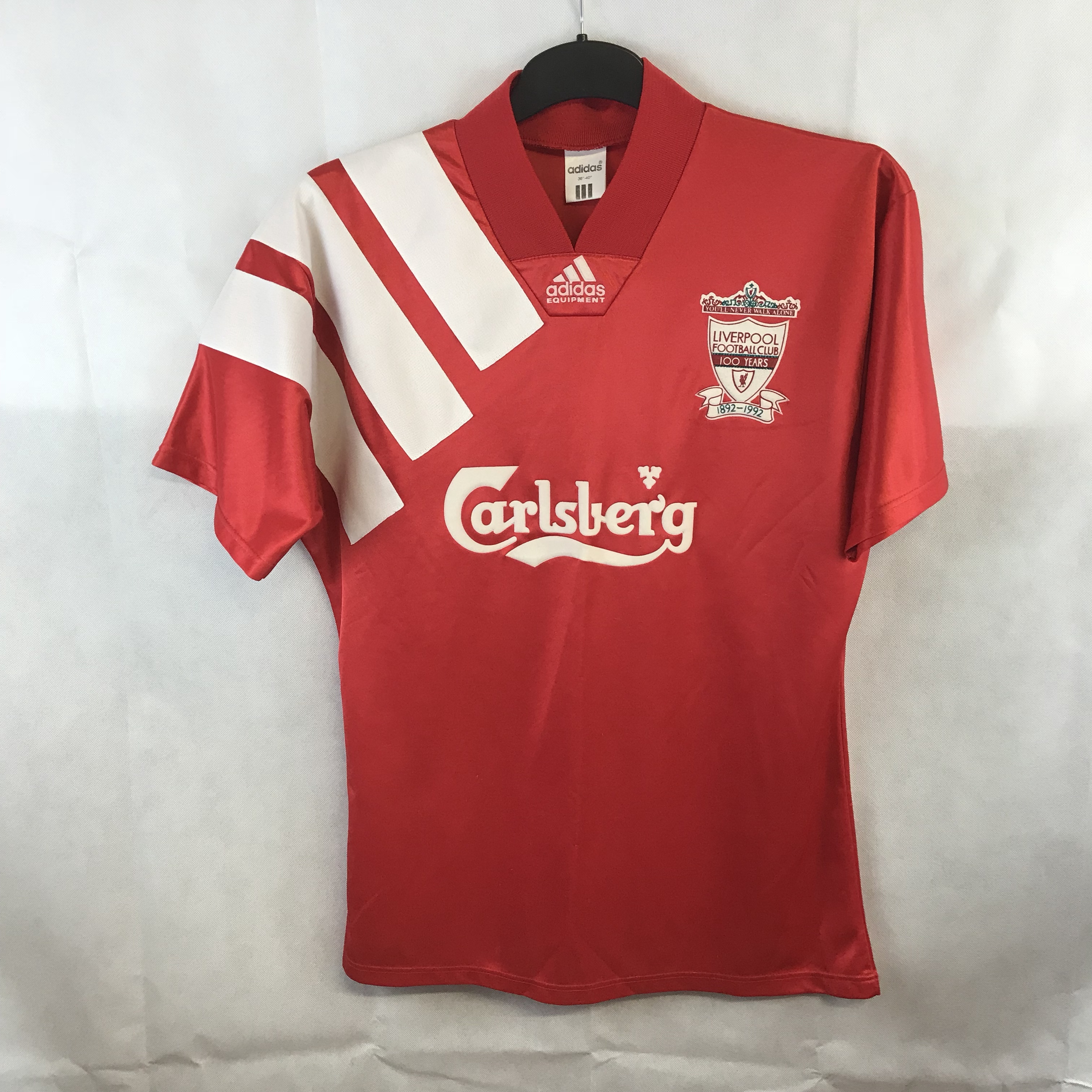 meet a7e7a 45461 Liverpool Centenary Football Shirt 1992/93 Adults... - Depop