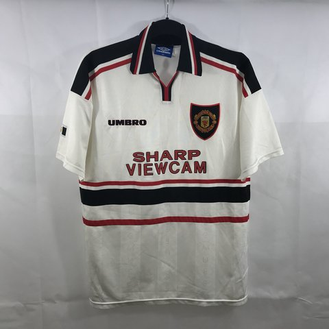 72eb023e541 Manchester United Away Football Shirt 1997 99 Adults XXL – a - Depop