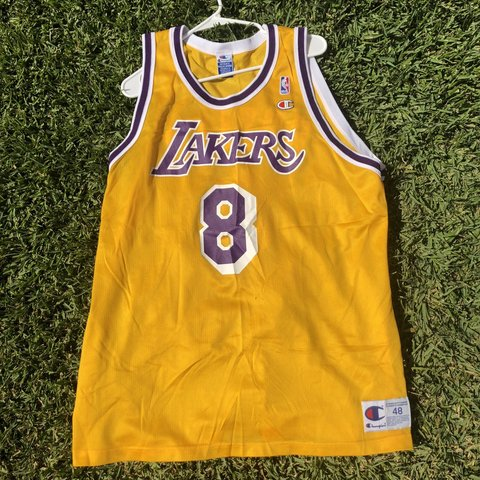 d9bf718e067 vintage champion Kobe Bryant jersey. Los Angeles Lakers no - Depop
