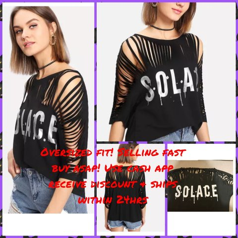 02ce8f4541e8 solace #shredded tshirt. Use cash app for instant payment & - Depop