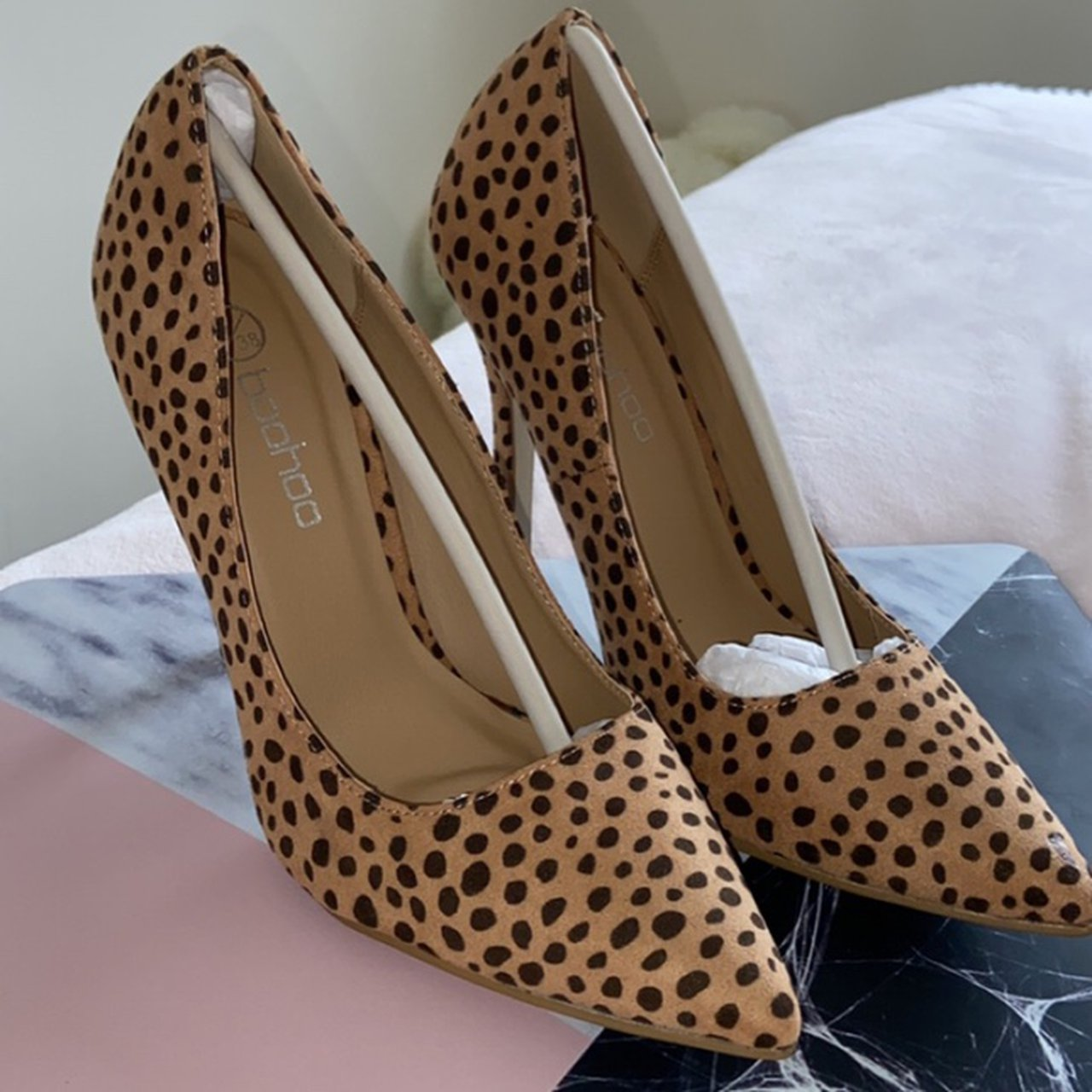 Leopard print shoes from boohoo Never