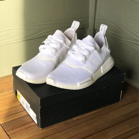 3ac73b122 Adidas NMD R1 Japan Triple White Size  10.5 Condition  and - Depop