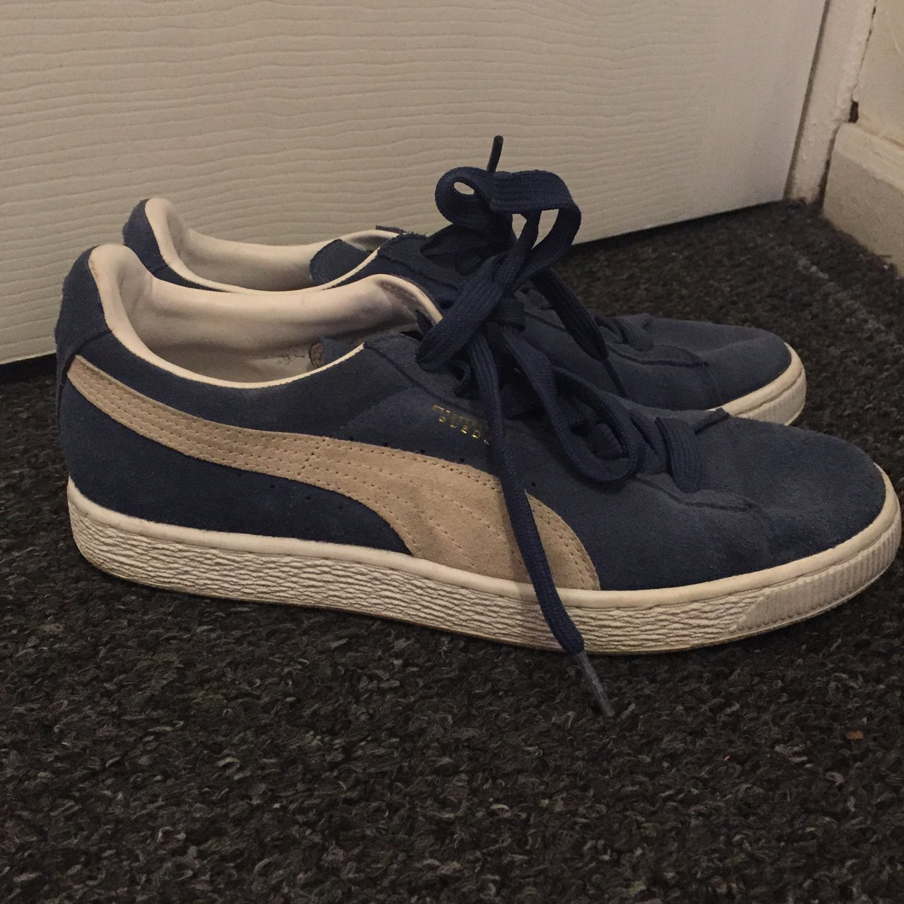 492b580b2721fa SIZE 6. Blue PUMA SUEDE. Worn but only once or twice. Can be - Depop