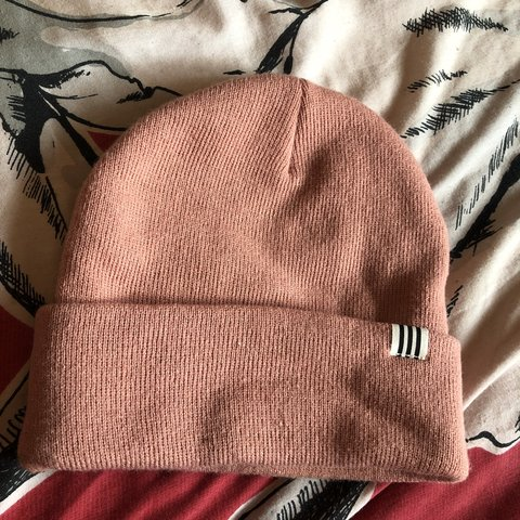 a65b5887637 Light pink Adidas beanie hat  woolly hat. Has never been - Depop