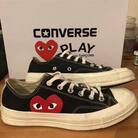 a2752e650f5 Converse x CDG play trainers - 100% authentic like all my in - Depop