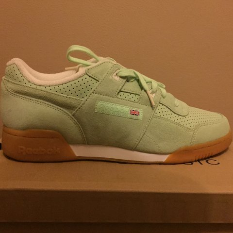 57f4c2ba503 For sale Reebok workouts x size pastel shoes in a UK 10. to - Depop