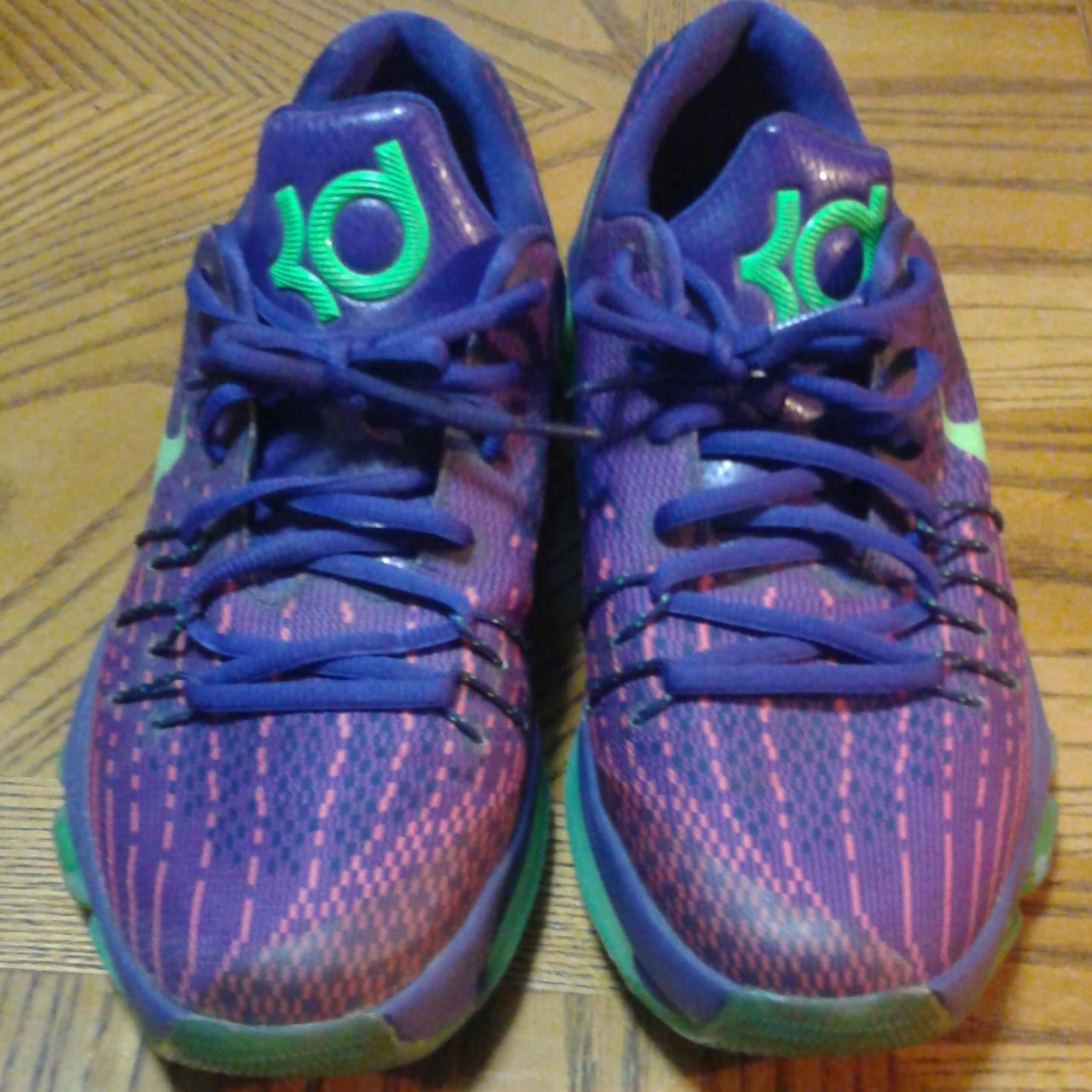 official photos 5d78a 39687 Nike KD 8 Court Purple/Green strike-vivid purple... - Depop